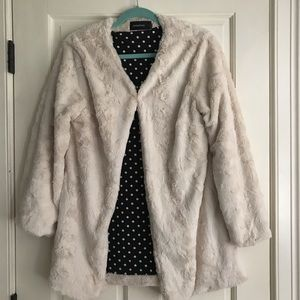 Mink Pink cream faux mink coat. SOLD